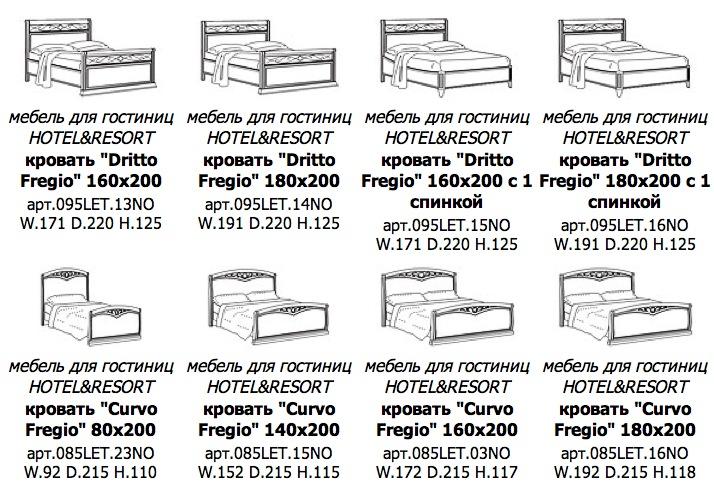 Купить итальянскую мебель для отелей и гостиниц в Новороссийке